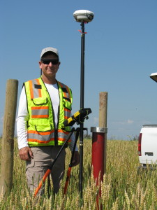 Surveying in Canadian Barley Field